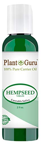 Hemp Seed Oil 2 oz. Virgin, Unrefined 100% Pure Natural - Skin, Body And Hair Moisturizer. Works For Massage, Acne, More!