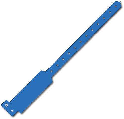 Wideface Vinyl Wristbands 500Ct Blue