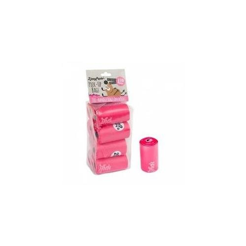 ZippyPaws Dog Poop Waste Pick-Up Bags on Rolls, 120-count (8 Rolls), Pink Scented