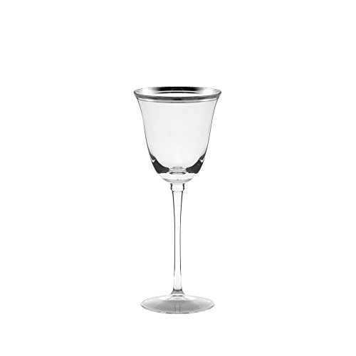Windsor Plate Set (11 Strawberry Street Windsor 6 Oz Oz White Wine Glass with Silver Band, Set of 4)