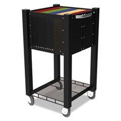 -- InstaCart Sidekick File Cart, 15w x 16-1/2d x 27-3/4h, Black by MOT3