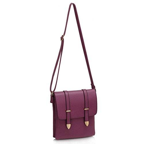 LWS00470 LeahWard Ladies Lws00470 Bag 5x4x27cm Cross Messenger Bags Shoulder Style Body 24 Celeb Handbag purple Women's PrqpP