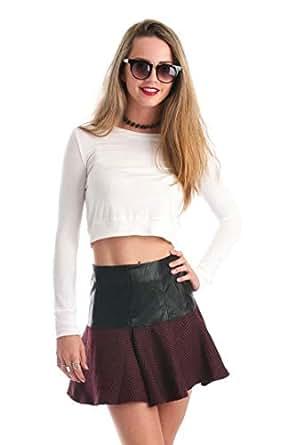 Hipster Red Lace Skater Skirt For Women