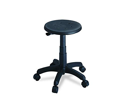 Seat Swivel Adjustment Series Pneumatic (Sаfcо Prоducts Office Stool (Additional Options Sold Separately), Black)