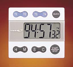 Amazon.com: VWR 62344-641 Traceable Calibrated Four-Channel Alarm Timer with Clock, 7cm Height ...
