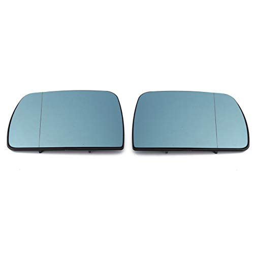 B Blesiya 2 Pieces Left Right Side View Wing Heated Mirror Glass with Mirror Stickers for BMW X5 E53 99-06