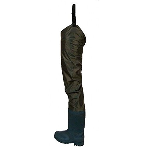 Frogg Toggs Rana II PVC/Nylon Hip Wader with Cleated Sole, Brown, Size 7