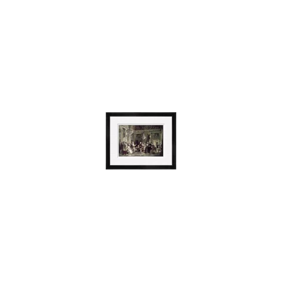 John Paul Jones B Franklin At Louis Xvis Court Framed Giclee Print