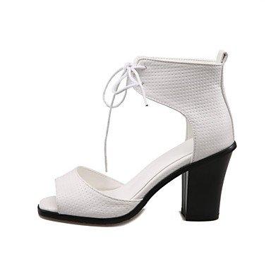LvYuan Mujer-Tacón Robusto-Otro-Sandalias-Vestido Informal-PU White