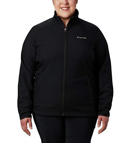 Columbia Women's Plus Size Kruser Ridge Ii Softshell, Black, 2X