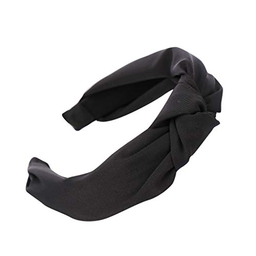 TIFENNY Fashion Bow Knot Hairband Women Hair Head Hoop Solid Color Simple Sweet Girls Hair Headband Headdress ()
