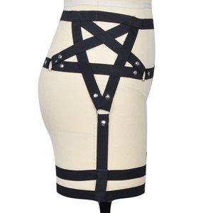 Autumn Water New women's Sexy Punk Goth Harajuku Style Star Pentagram gothic Garter Belt harness Leg Hand made