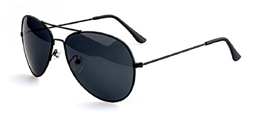 pour hommes de aviateur Verres Lunettes métal Monture retro design soleil Foncées Noire en ftnxnqHOw
