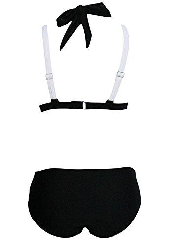 De la Mujer Color Negro Bloque Push Up Criss Cruz de baño bikini verano tamaños 8–�?0–�?2–�?4colores disponibles blanco y negro