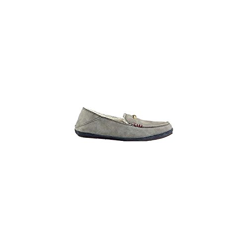 OluKai Women's Pa'Ani Slipper Fog/Dark Shadow Nubuck 8 Medium by OluKai
