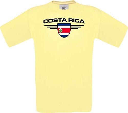 Shirtstown Man Camiseta Costa Rica Camiseta de País con SU Jungen y su Número Deseado,