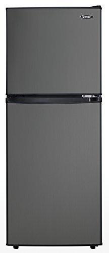 Danby DCR047A1BBSL Dual Door Compact Refrigerator, Black Sta