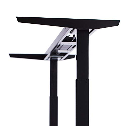 "ApexDesk Elite Series 60"" W Electric Height Adjustable Standing Desk (Memory Controller, 60"" Black Top, Black Frame)"