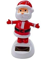 Solar Dancing Santa Claus, Christmas Solar-Powered Swinging Doll Bobble Head Animated Figure Ornament for Office Home Desktop, Windowsill, Car Dashboard Decoration