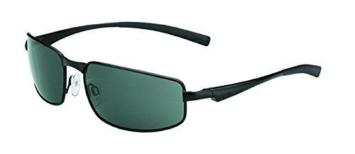 (Bolle Everglades Sunglass with TNS Lens, Matte Black)