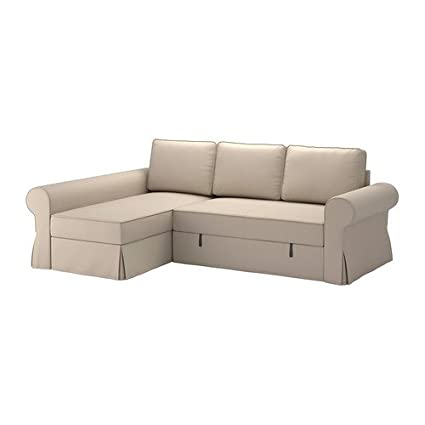 Ikea BACKABRO - Cubierta sofá-Cama con Chaise Longue, Ramna ...