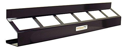 Pit Posse Oil Rack Shelf Aluminum Enclosed Race Trailer Shop Garage Storage Organizer (Black) by Pit Posse