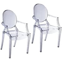 Pangea Home Bugatti Dining Chair, Clear, Set of 2