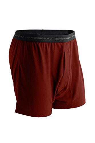 ExOfficio Men's Give-N-Go Boxer Travel Underwear, Bolero Red, Small (Shorts Spandex Ex Officio)