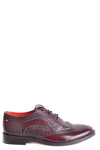 Base London Hombre MCBI358011O Burdeos Cuero Zapatos De Cordones