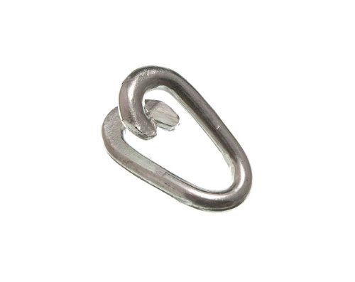 CHAIN FENCE REPAIR LINK 6MM 1/4 INCH WEATHERPROOF ZP ZINC PLATED ( pack of 10 ) onestopdiy.com