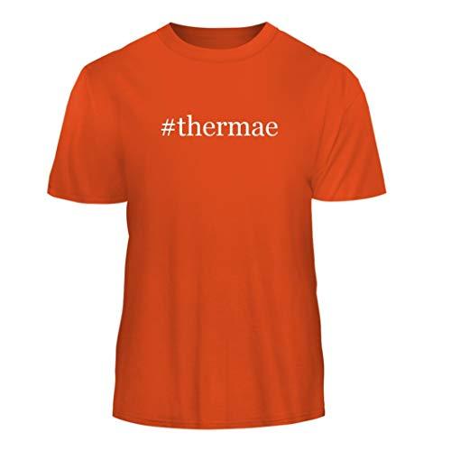 Tracy Gifts #Thermae - Hashtag Nice Men's Short Sleeve T-Shirt, Orange, (Orange Therma Base)
