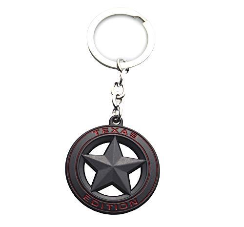 - 1x New Texas Edition Car Auto Logo Badge Metal Keyfob Keyring Keychain Key Holder (Black)