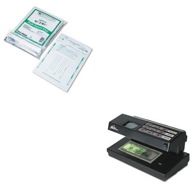KITQUA45224RSIRCD2000 - Value Kit - Royal Sovereign Portable 4-Way Counterfeit Detector (RSIRCD2000) and Quality Park Poly Night Deposit Bags w/Tear-Off Receipt (QUA45224)