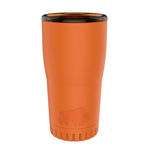 Silver Buffalo NL112495 Double Walled Stainless Steel Travel Tumbler, 20-Ounces, Orange