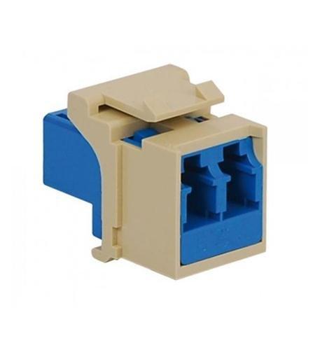 - ICC Module, Fiber Optic, LC, Duplex, Ivory IC107LC2IV