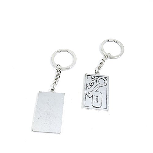 100 Pieces Keychain Door Car Key Chain Tags Keyring Ring Chain Keychain Supplies Antique Silver Tone Wholesale Bulk Lots S7ZK9 Love Lock Tag Signs by WOWGAME2009 KEYRING