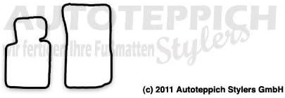 Passgenaue Fu/ßmatten aus Nadelfilz mit mittelbeigem Rand 307 Randfarbe nach Wahl Cabrio Baujahr 2002-2008 f/ür BMW Z4 E85 E86 Coupe