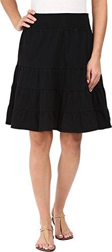 Fresh Produce Women's Jersey Tiered Skirt Black Medium