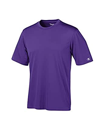 ChampionCW22 Essential Double Dry Tee Purple- Size Large (Unit Per Pack 1)