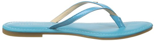15p Femme Hilfiger Blue Bleu Tongs 497 Blau lake J1285ennifer Tommy ESIZq