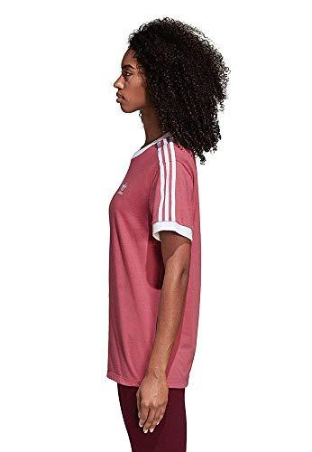 shirt Adidas Maroon stripes T 3 Trace Donna UtPq0B