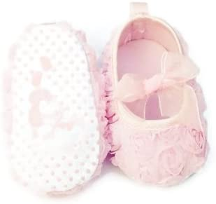 Light Pink Lace Rosebuds Shoes 3-6 Months
