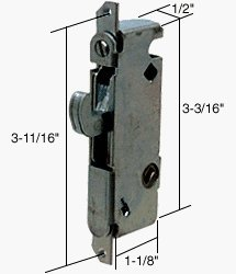 1/2 Wide Round End Face Plate Mortise Lock with 45 Degree Keyway for W&F Doors by TechnologyLK - Technologylk Locks