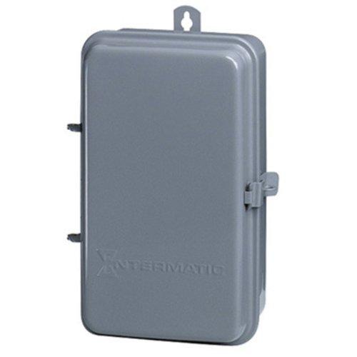 Intermatic 2T511GA Electrical Box, 5 1/2'' x 9 3/8'' x 3 5/8'' Steel Indoor/Outdoor Enclosure - Gray