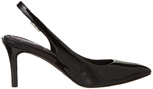 Rockport Tm75mm Pointy Toe Pump Sling, Scarpe Col Tacco Donna Schwarz (Black Patent)