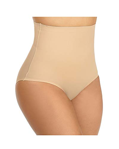 BeautyLean Tummy Control Shapewear for Women High Waist Shaping Panty Firm Control Briefs Plus Size (Nude, 1X)