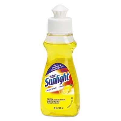 Sunlight Liquid Dish Detergent, Lemon Scent, 3 oz Bottle, 90/CT by Sunlight