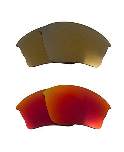 Best SEEK OPTICS Replacement Lenses Oakley FLAK JACKET XLJ - Gold - Jacket Sale Flak