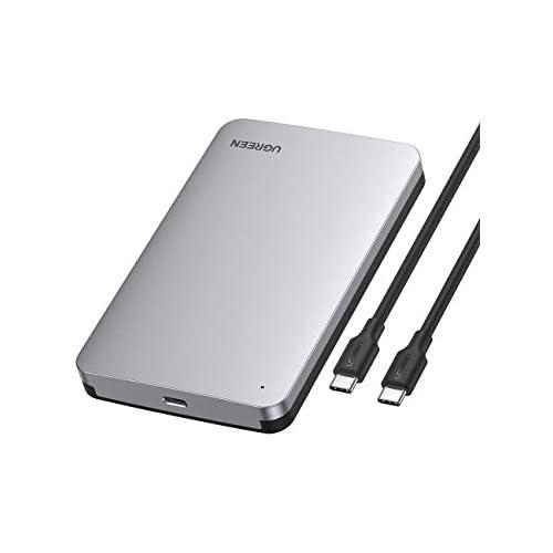 UGREEN Carcasa Disco Duro 2 5 USB C con UASP Caja de Aluminio para Disco Duro HDD SSD SATA I II III de 7mm 9 5mm de Altura 10 TB MAX para Xbox One PS4 PS3 TV con Cable USB C a USB C