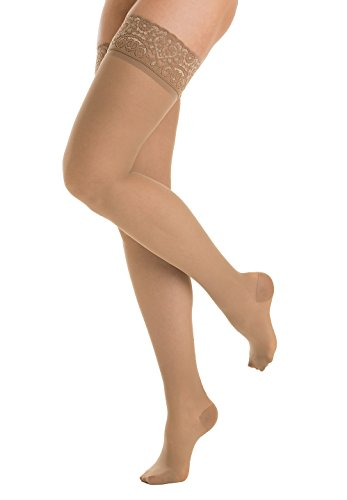 Relaxsan Prestige 870F (Skin, sz.5) 15-20 mmHg moderate support hold up stockings with Lycra 3D -